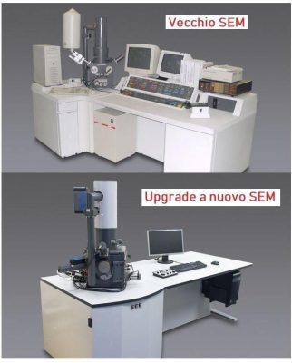 upgrade SEM e TEM, cambio elettronica, strumetni ricondizionati, SEM ricondizionato, TEM ricondizionato, service su SEM e TEM, microscopio elettronico