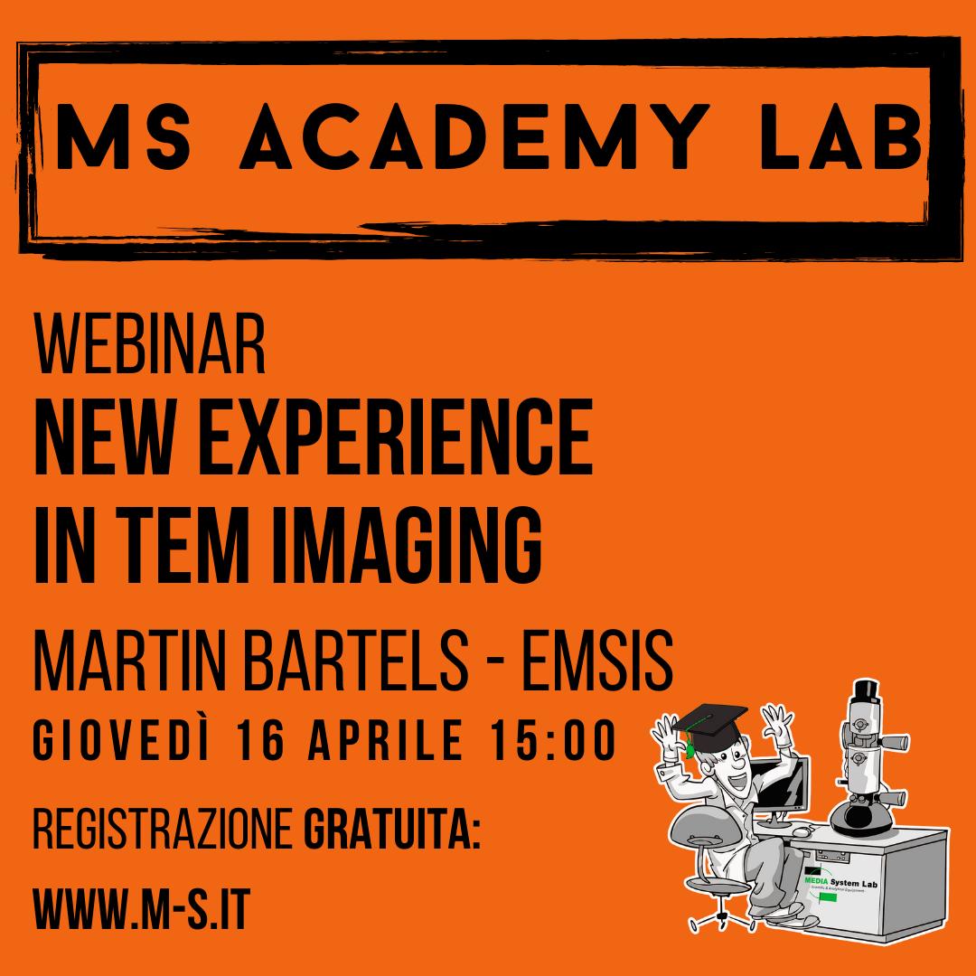Webinar: New experience in TEM imaging